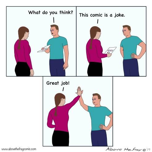 Your comic is a joke