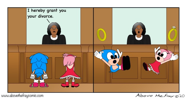 Sonic the divorced hedgehog